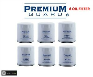 LOT OF 6 OIL FILTER PG241 PREMIUM GUARD REPLACE PH3614 FRAM