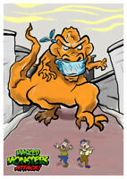 Masked MONSTERS ATTACK! T-REX Wax Digital TRADING CARD #1 like topps gpk