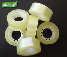 Easy Tear Clear Sellotape 19mm x 33m Sticky Packaging Tape Rolls Bulk
