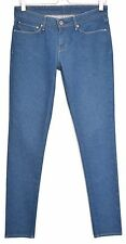 Señoras MUJERES Levis Skinny Jeans Azul Tiro Bajo Talla 10 W28 L32