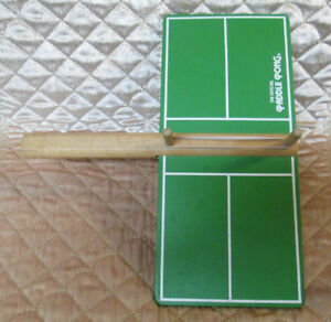 Vintage 1970s The Official Paddle Pong Handheld Wooden Game Rare HTF Ping Pong