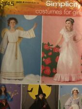 SIMPLICITY PATTERN 2845  COSTUMES ANGEL GIRLS SIZES 2 3 4 5 6 7 8 10 12  UNCUT