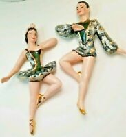 MAHANA IMPORTS Ballet Dancers Black & Gold Wall Hangings 1950's era( 344 & 345)