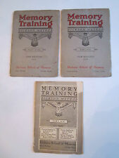 "1912 & (2) 1919 MEMORY TRAINING ""DICKSON METHOD"" BOOKLETS - PART 9 & TEN - BN-9"