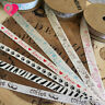 "3/8"", 5/8"" Cotton Zebra Animal Paw Love Print Twill Tape Ribbon Trim 1-25 yd"