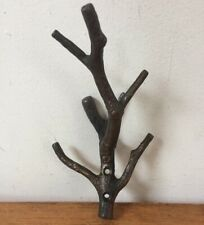 Bronze Finish Antique Vtg Style Tree Branch Brass Wall Robe Towel Coat Hook