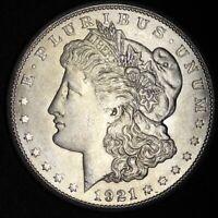 1921-S Morgan Silver Dollar AU 90% SILVER! FREE SHIPPING