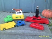 Lot of Vintage Lido & Wannatoys Plastic Car & Truck Toys, Mini Coke Bottle, Cow