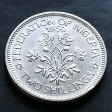 More details for nigeria-1959-2 shillings coin-queen elizabeth ii-minted for one year only-#la740
