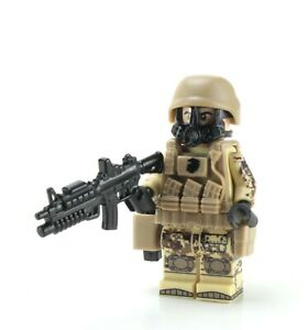 Marine Corps Desert MARPAT Chemical Warfare With Real LEGO® Minifigure
