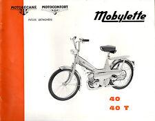 Catalogue pieces detachées MOTOBECANE MOTOCONFORT SERIE 40 T 40T