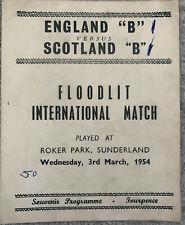 More details for england 'b' v scotland 'b' 1954 pirate programme played @ roker park, sunderland
