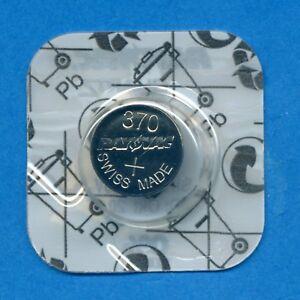 1 x 370 SR920W V370 D370 SR921 1.55V Silver Oxide Watch Cell Battery Rayovac