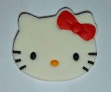 1 x hello kitty cupcake topper comestible pâte de sucre gâteau décoration fête d'anniversaire