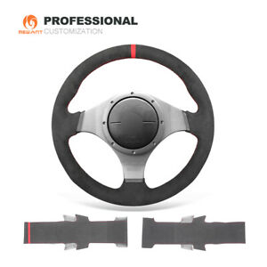 MEWANT Alcantara Steering Wheel Cover for Mitsubishi Lancer Evolution EVOIX9