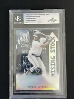2019 Leaf Valiant Baseball Yordan Alvarez BGS Pre-Production Proof Prismatic 1/1