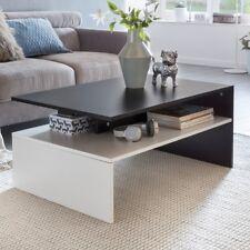 FineBuy MURRY table basse table basse table basse avec étagère 90cm