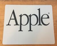 Vintage New Apple Computer Classic Type Text Black Logo Gray Computer Mouse Pad