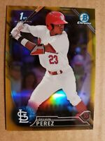 DELVIN PEREZ 2016 Bowman Chrome Draft Gold Refractor /50 **St. Louis Cardinals**