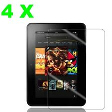4X Clear Screen Protector Film Cover Guard Amazon Kindle Fire HD 7 inch 2012+KIT