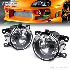 2 pcs Fog Light Lamps w/H11 Bulbs For Acura Honda Ford Nissan WT