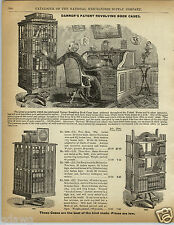 1892 PAPER AD 5 Page Danner's Patented Revolving Book Case Cases Bookcase Prices