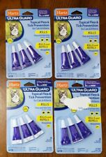 4x HARTZ Ultra Guard Flea & Tick for Cats 5 Lbs & Over Topical 9 Month Supply
