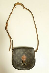 Authentic Louis Vuitton Mini Saint Cloud Monogram Shoulder bag brown #7559