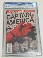 Captain America #25 CGC 9.8 NM/MT White Pages Marvel 2007 Death of Steve Rogers