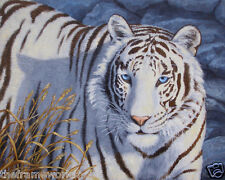 CRYSTAL EYES WHITE TIGER - 3D LENTICULAR MOVING PICTURE 400mm X 300mm