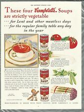 1933 CAMPBELL'S SOUP advertisement, Tomato Celery Pea Asparagus
