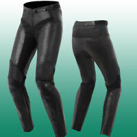 Womens Black Leather Pants Motorcycle Women's Riding Biker Genuine Leather Pant