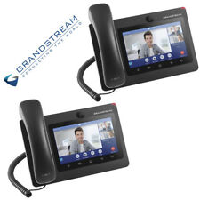 "2 Pk Grandstream GXV3370 IP Video Phone Android Desktop 7"" Touch Screen 16 Line"