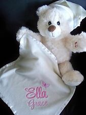 Personalised Teddy Bear  Light up and Melody  Baby Gift Get Well Gift Any Name