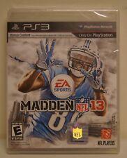 New! Madden NFL 13  (Sony Playstation 3, 2012)  - U.S. Retail Version!