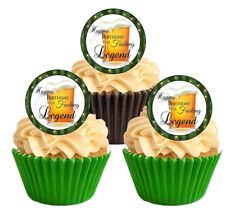 12 RUDE Happy Birthday F*cking Legend Edible Wafer Cupcake Decoration Toppers