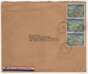 1947 Dec 16th. Air Mail. Dominican Republic to New York, USA.