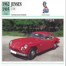 CARTE FICHE AUTO JENSEN C V8 1962 - 1965
