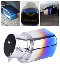 1x Anti-corrosive Durable Stainless Steel Grilled Blue Exhaust Pipe Tips for SUV