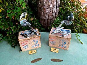 """( 2 ) NOS Vintage 1950's 1960's  """" JOMA JOMET STRADDLER """"  Fender & Body Mirrors"""
