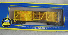 Vintage Ho Scale Ahm Union Pacific Yellow Stock Car in Box 5404