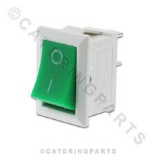SW55 Bianco / Verde per la piccola rete Rocker Switch 6A per 13MM X 19MM FORO