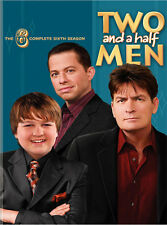 TWO AND A HALF MEN - COMPLETE 6TH SEASON 6 - BRAND NEW & SEALED DVD (4-DISC SET)