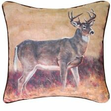 Northwood Woodland Lodge Cabin Wild  Deer Pillow Home Decor