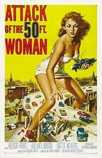 Attack of The 50 Foot Woman Classic B Movie Poster  A2 Reprint