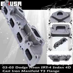 Cast Iron Manifold fits 03-05 Dodge Neon SRT-4 Sedan 4D 2.4L 2429CC T3 Flange