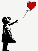 "POP ART, BANKSY, ""GIRL WITH A BALLOON"" 2x1,5 METER !!! HANDGEMALT AUF LEINWAND"