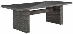 KONIFERA Gartenmöbel Florenz Tisch 230x100cm Polyrattan B63538156T