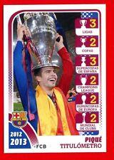 FC BARCELONA 2012-2013 Panini - Figurina-Sticker n. 175 - PIQUE TITULOMETRO -New