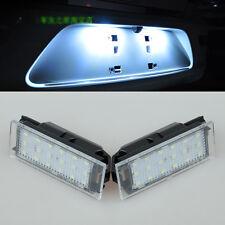 2x Error Free LED number License Plate Lights For Renault Clio 05-2014 Megane 14